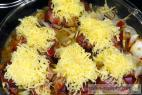 Recept Kuřecí játra na šlehačce - játra v anglickém županu se sýrovou čepicí