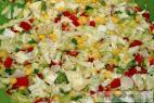 Recept Zeleninový salát s olivami a kukuřicí - příprava salátu