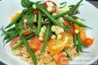 Recept Kuskus - základní příprava - kuskus se zeleninou - návrh na servírování