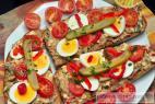 Recept Vajíčková pomazánka - rybičková pomazánka - návrh na servírování