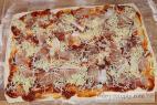 Recept Sýroví pizza šneci se šunkou - pizza šneci - postup