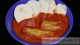 Rychlé masovo-rýžové plněné papriky s rajskou omáčkou
