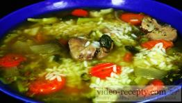 Rychlá a levná drůbeží polévka s rýží