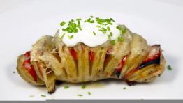 Zapečený brambor s hermelínem