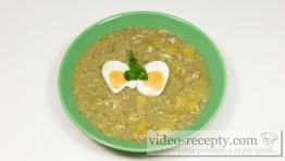 Koprová polévka s houbami a vejcem