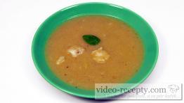 Květáková polévka s bazalkou