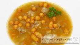 Rybí polévka z filé s krutony