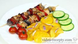 Medové kuřecí špízy bez éček na grilu