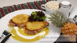 Vepřové plátky s ananasem