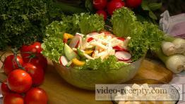 Salát z ředkviček a sýra