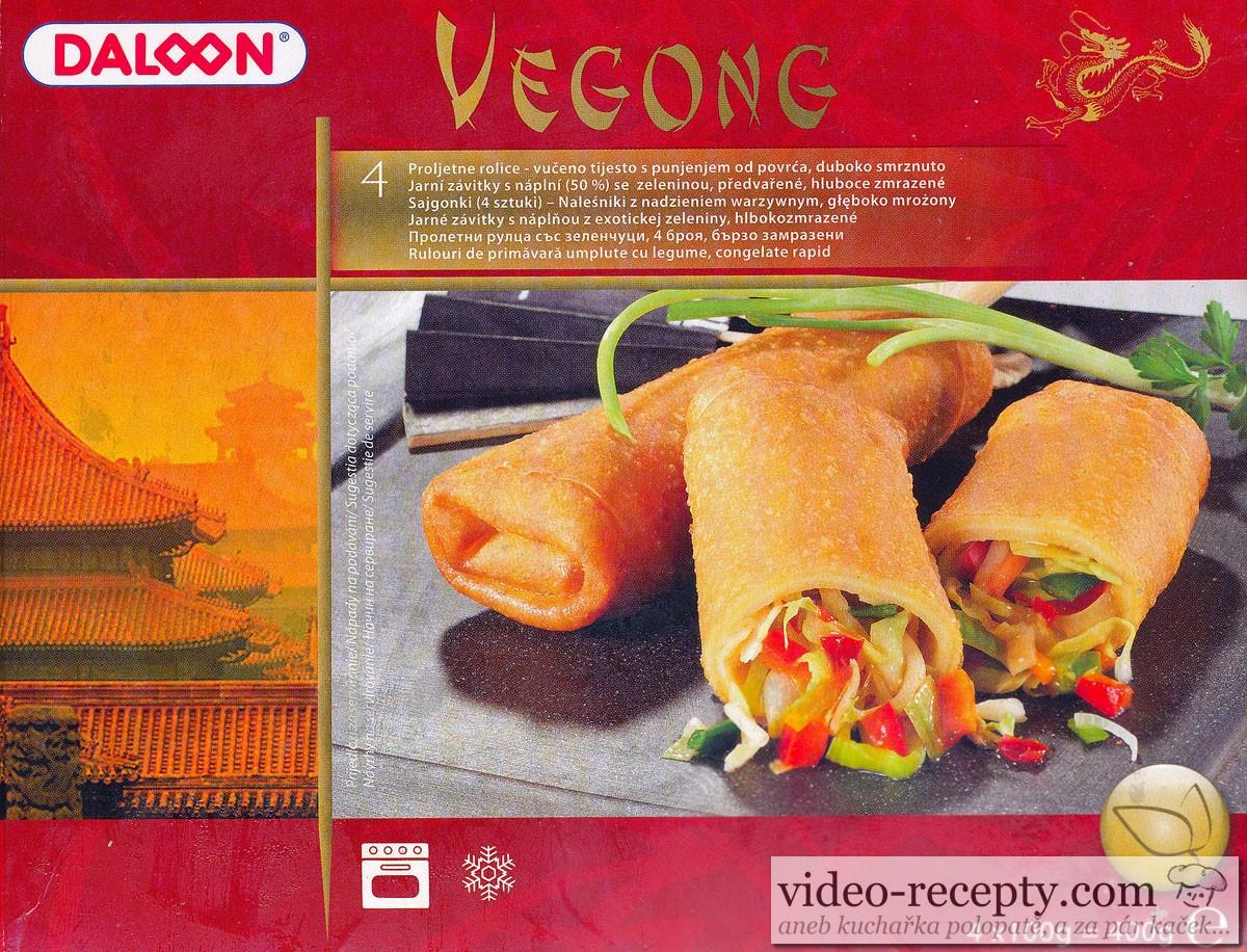 Jarní závitky s náplní Vegong - se zeleninou, předvařené, hluboce zmrazené