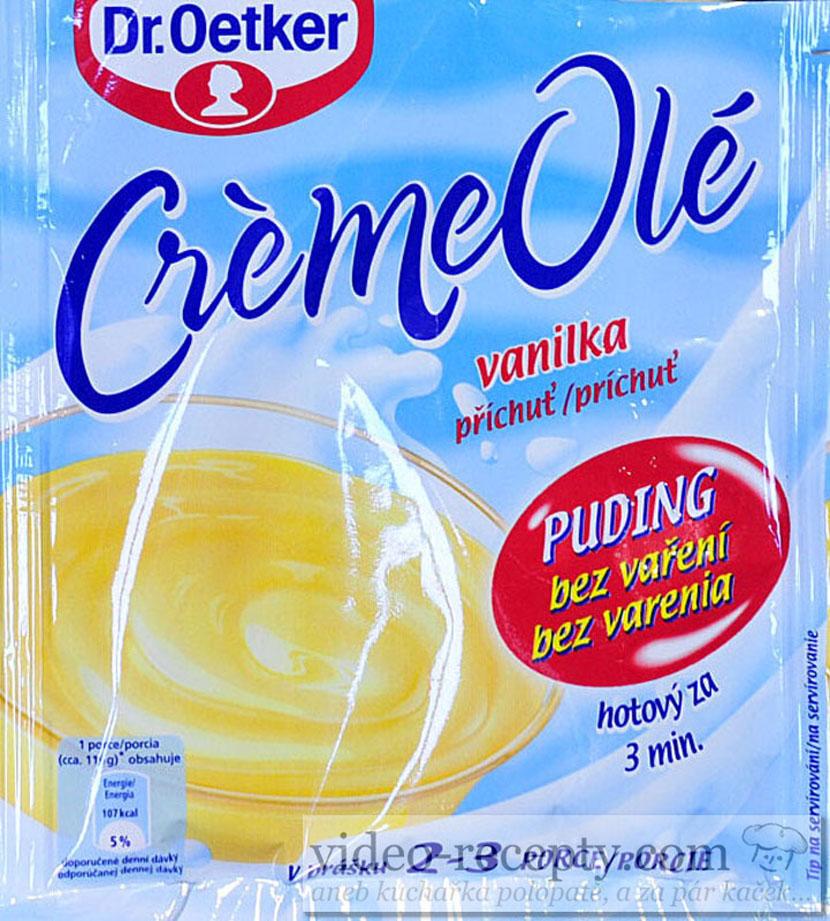 Dr. Oetker puding Crème Olé vanilkový