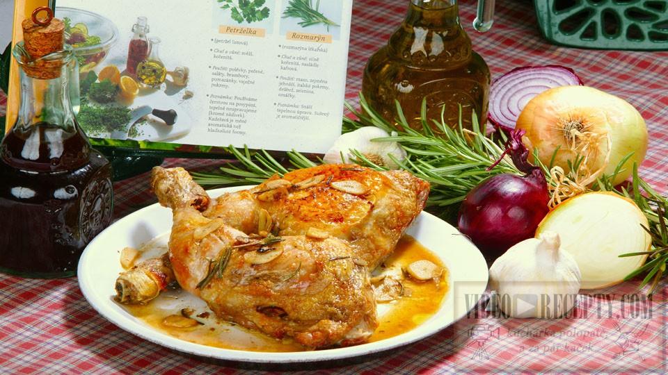 Kuře na víně s česnekem